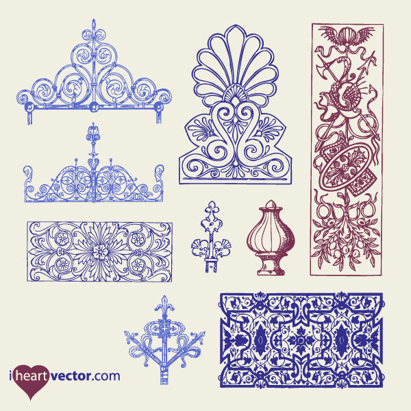 600x600 Massive Collection Of Vintage Vector Graphics Floral Borders