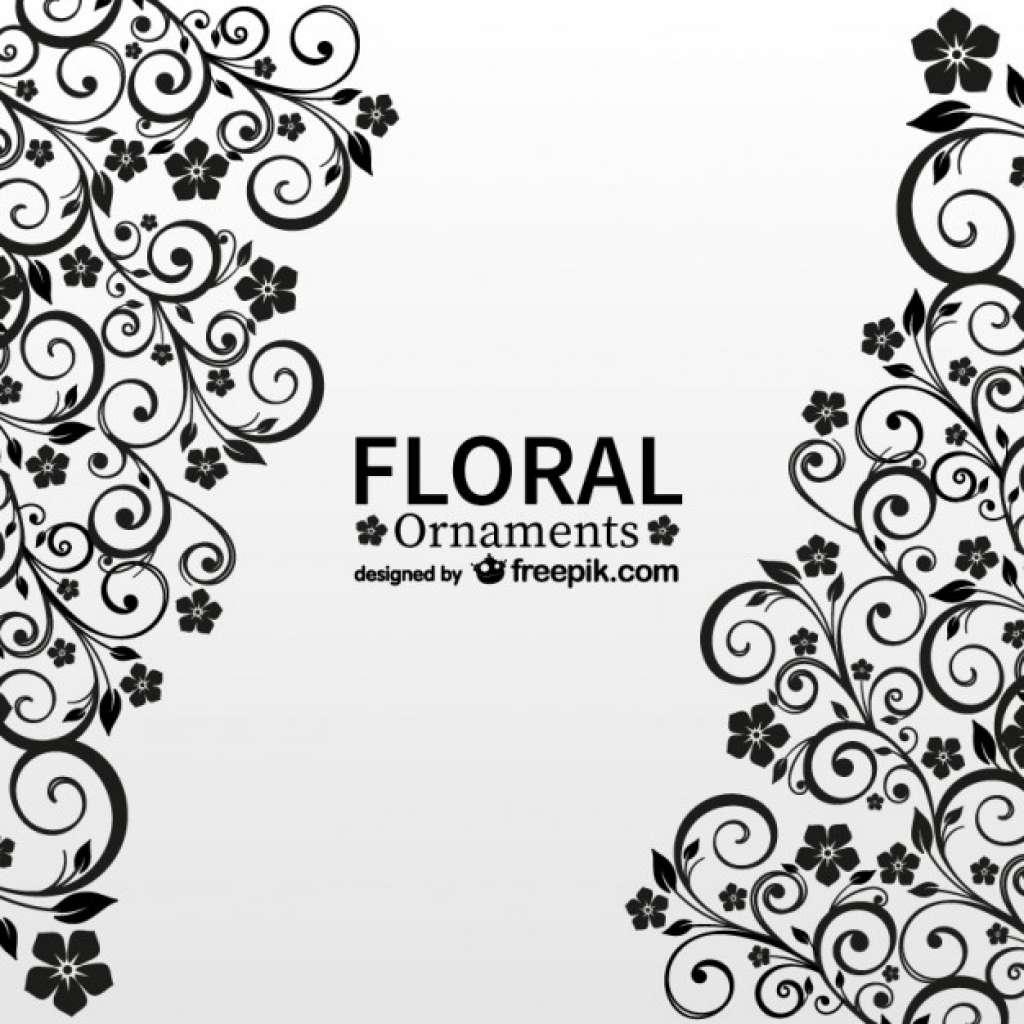 1024x1024 Ornament Border Vector Free Download Fresh Black Floral Ornaments