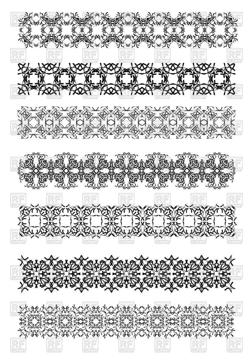 825x1200 Ornate Decorative Borders With Oriental Floral Ornament Vector