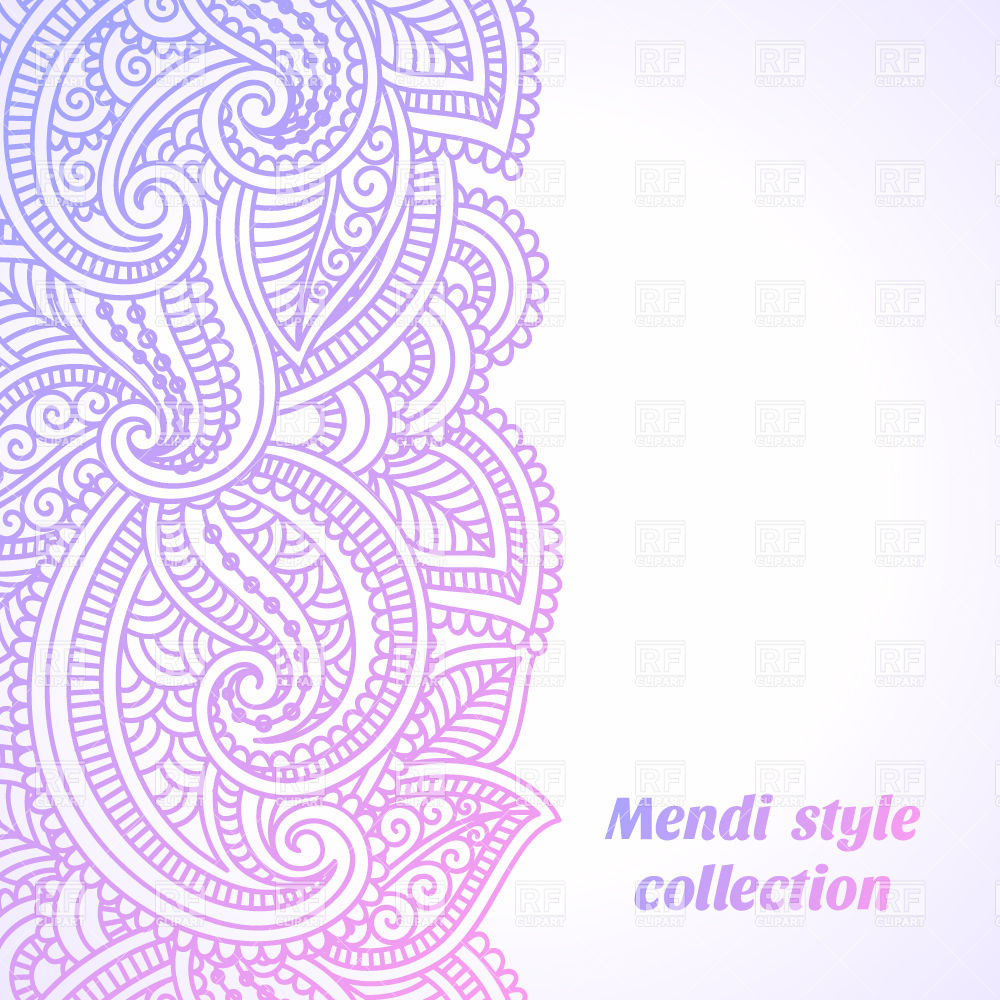 1000x1000 Seamless Border Made Of Ethnic Floral Ornament Vector Image