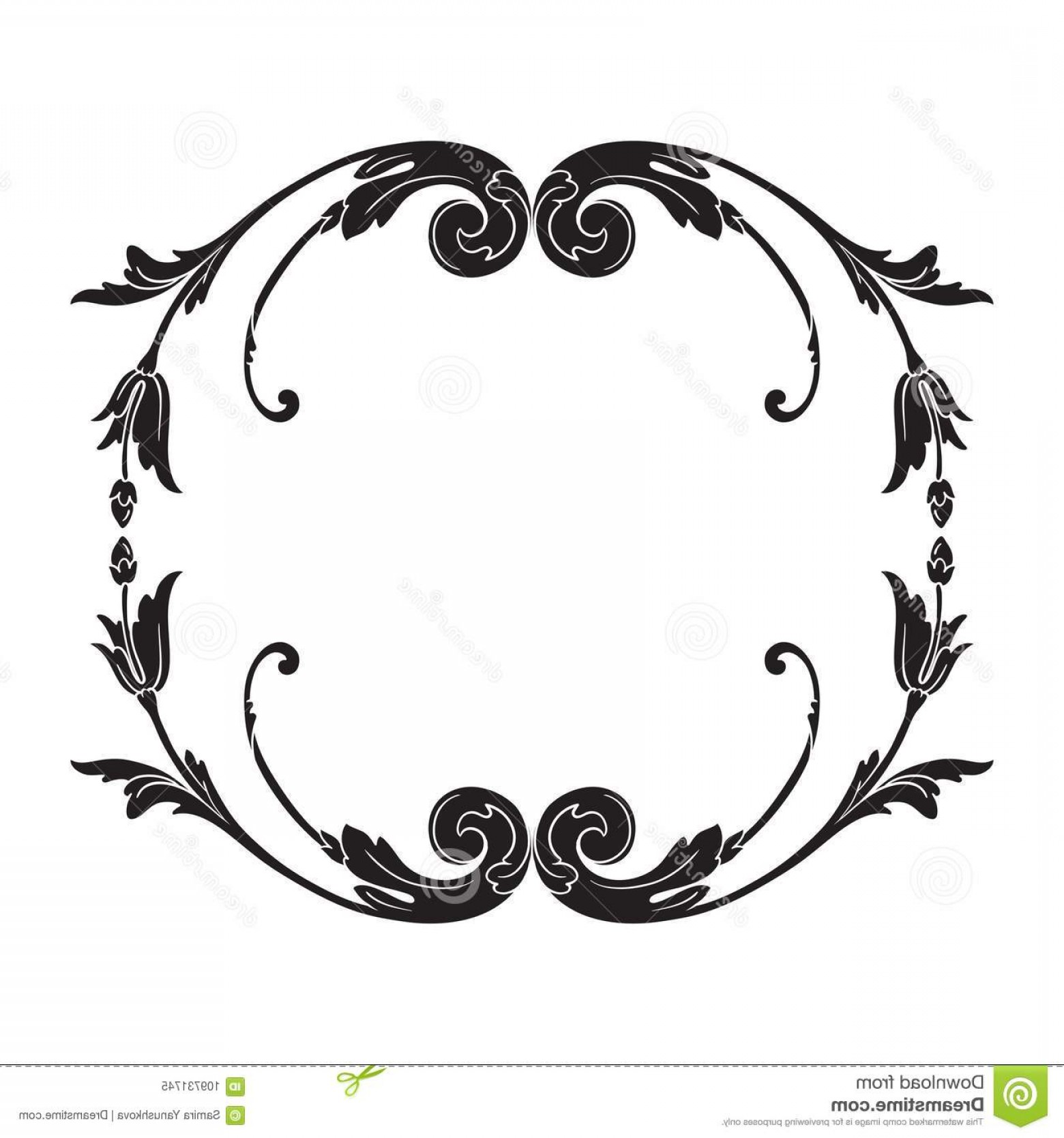 1560x1668 Vector Baroque Ornament Victorian Style Vintage Frame Scroll