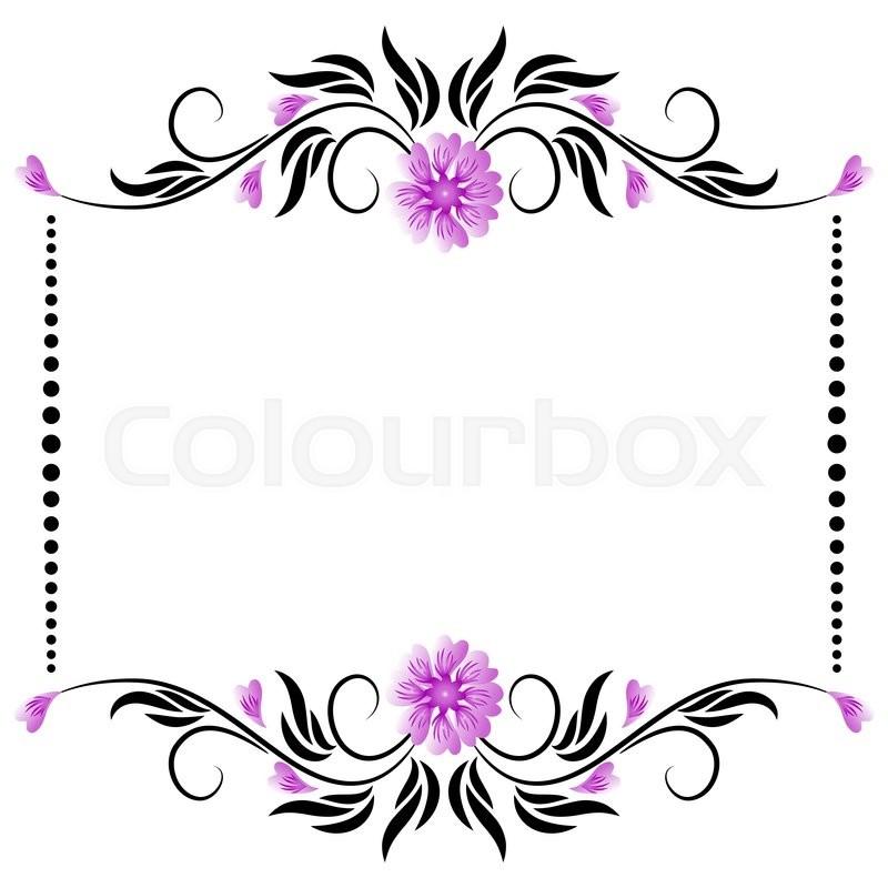 800x800 Vector Border Frame With Floral Ornament Stock Vector Colourbox