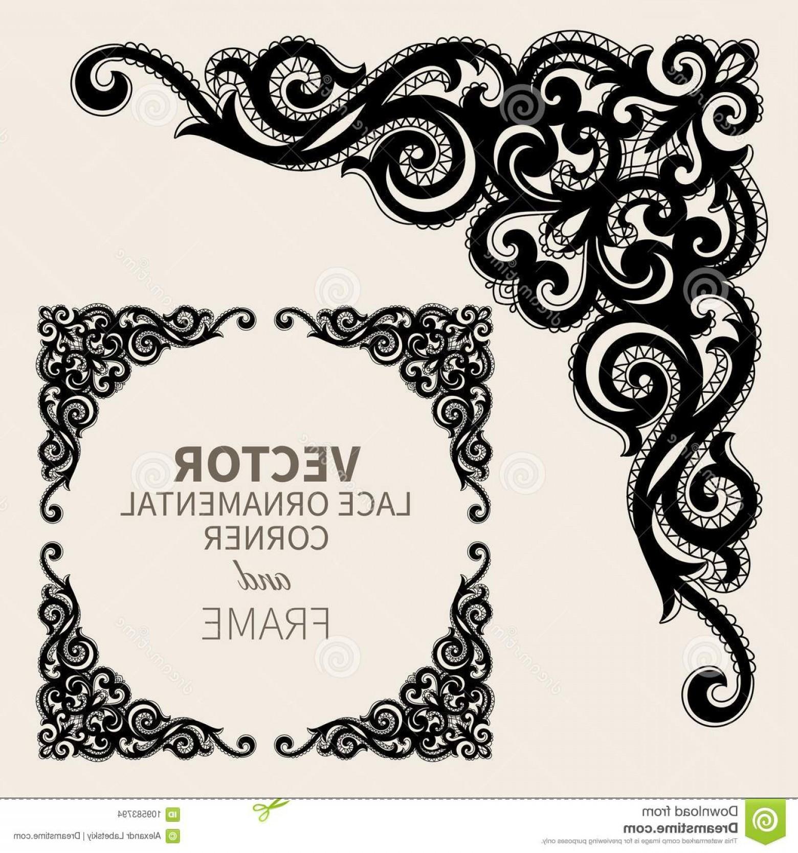 1560x1668 Floral Frame Border Decorative Lace Design Element Fancy