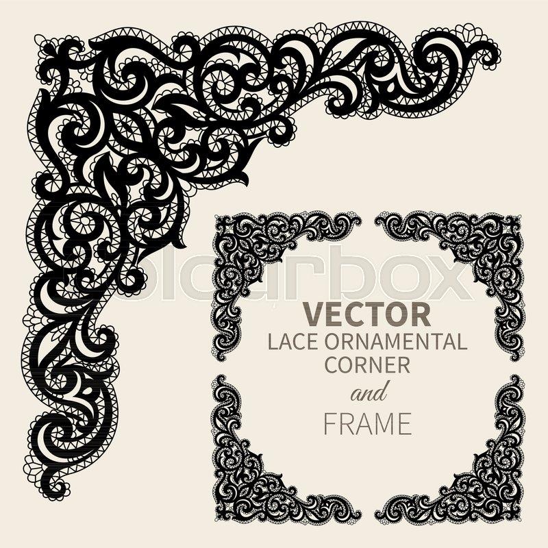 800x800 Floral Frame Border. Decorative Lace Design Element And Fancy