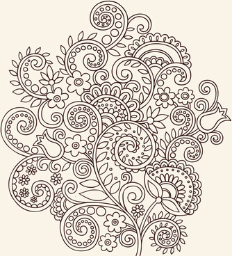 334x368 Flower Ornament Vector Free Vector Download (21,056 Free Vector