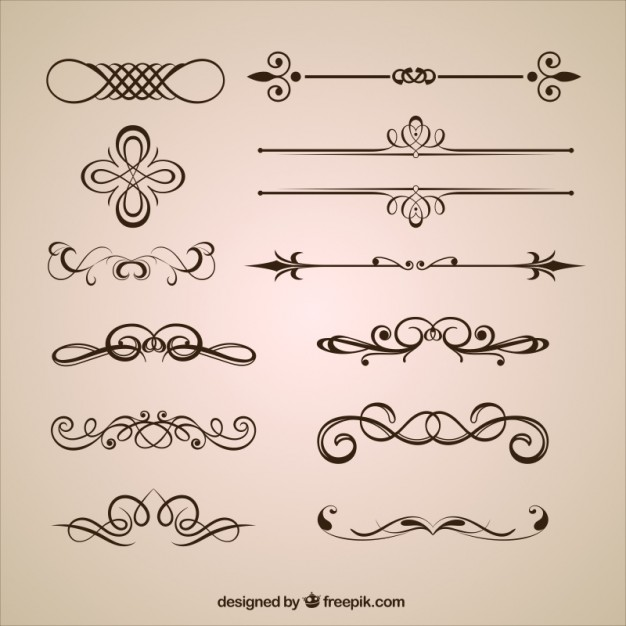 626x626 Ornamental Dividers Vector Free Download