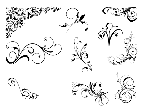600x459 Roundup Of Free Vintage Ornament Amp Floral Vectors