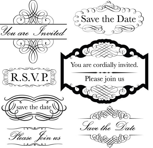 500x484 Black Labels With Ornaments Vintage Vectors 04 Free Download