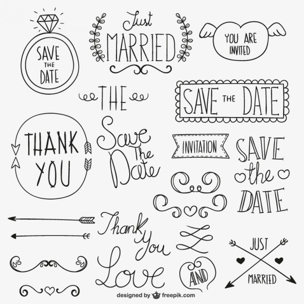 626x626 Calligraphic Wedding Ornaments Vector Free Download