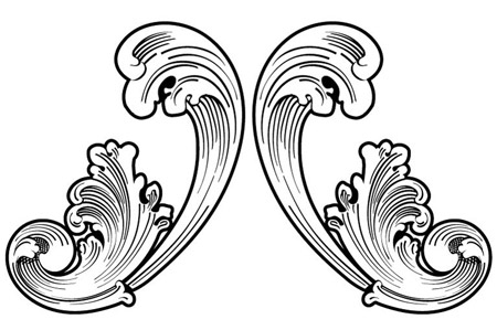 450x299 Handy Roundup Of Free Vector Ornaments Amp Flourishes