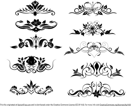 455x368 Ornament Vector Elements Png Images, Backgrounds And Vectors For