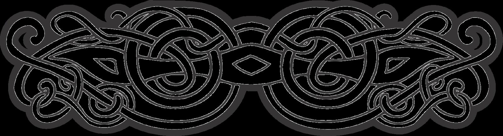 1600x435 Celtic Ornament Vector Png