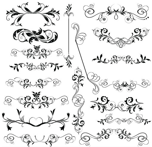 508x492 Ornamental Floral Dividers Vector Ai,eps Format Free Vector
