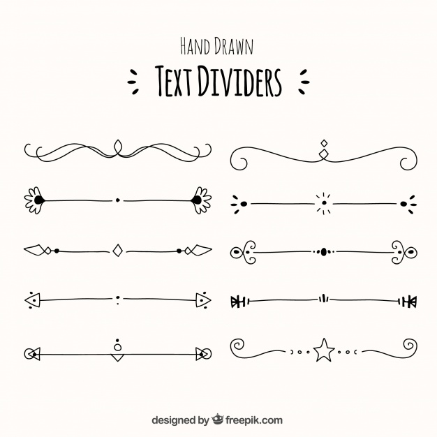 626x626 Collection Of Decorative Hand Drawn Text Divider Vector Free