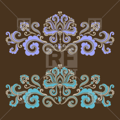400x400 Curly Floral Ornamental Dividers Vector Image Vector Artwork Of