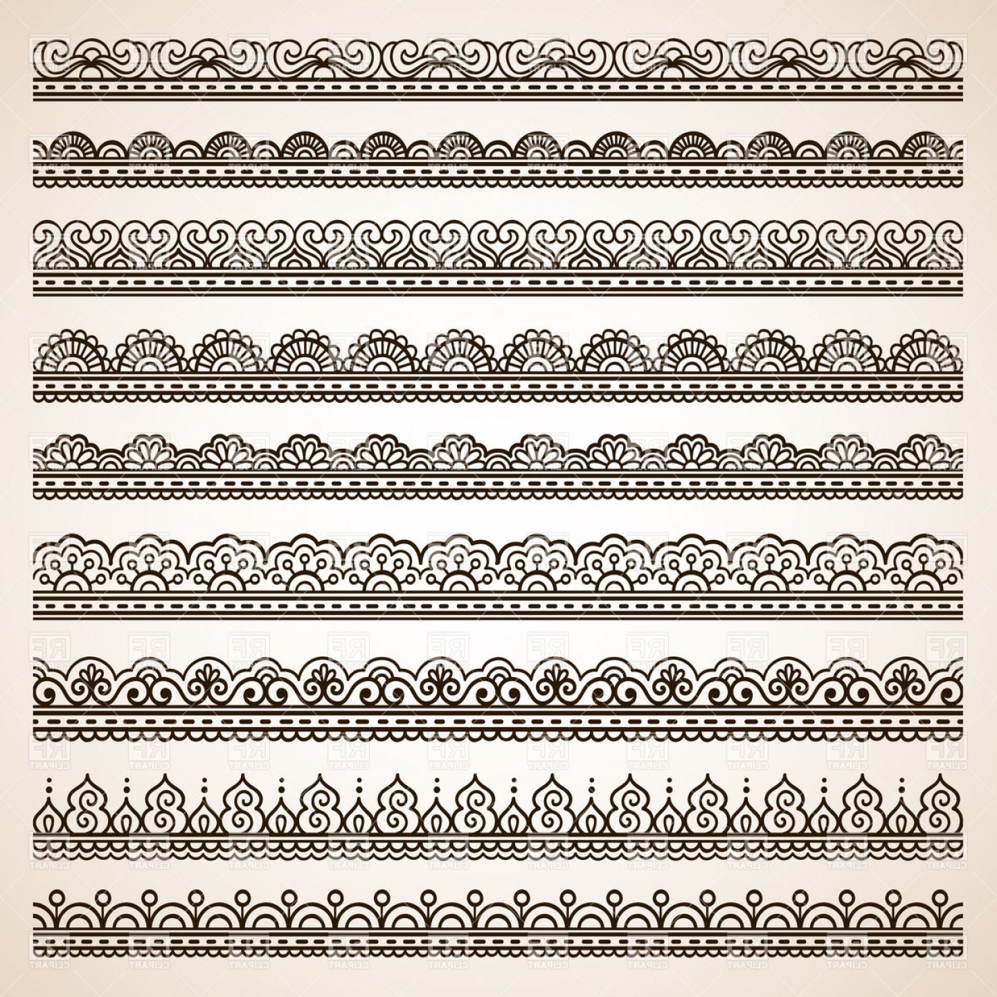 1440x1440 Lace Style Ornate Borders Vector Clipart Arenawp