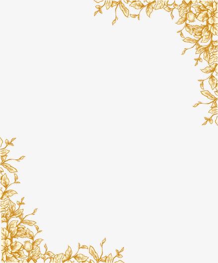 438x528 Ornate Border Vector Image, Small Fresh, Romantic, Beautiful Png