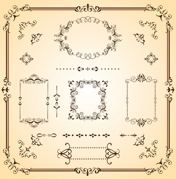 590x600 Ornate Borders And Scrolls Free Vector In Adobe Illustrator Ai