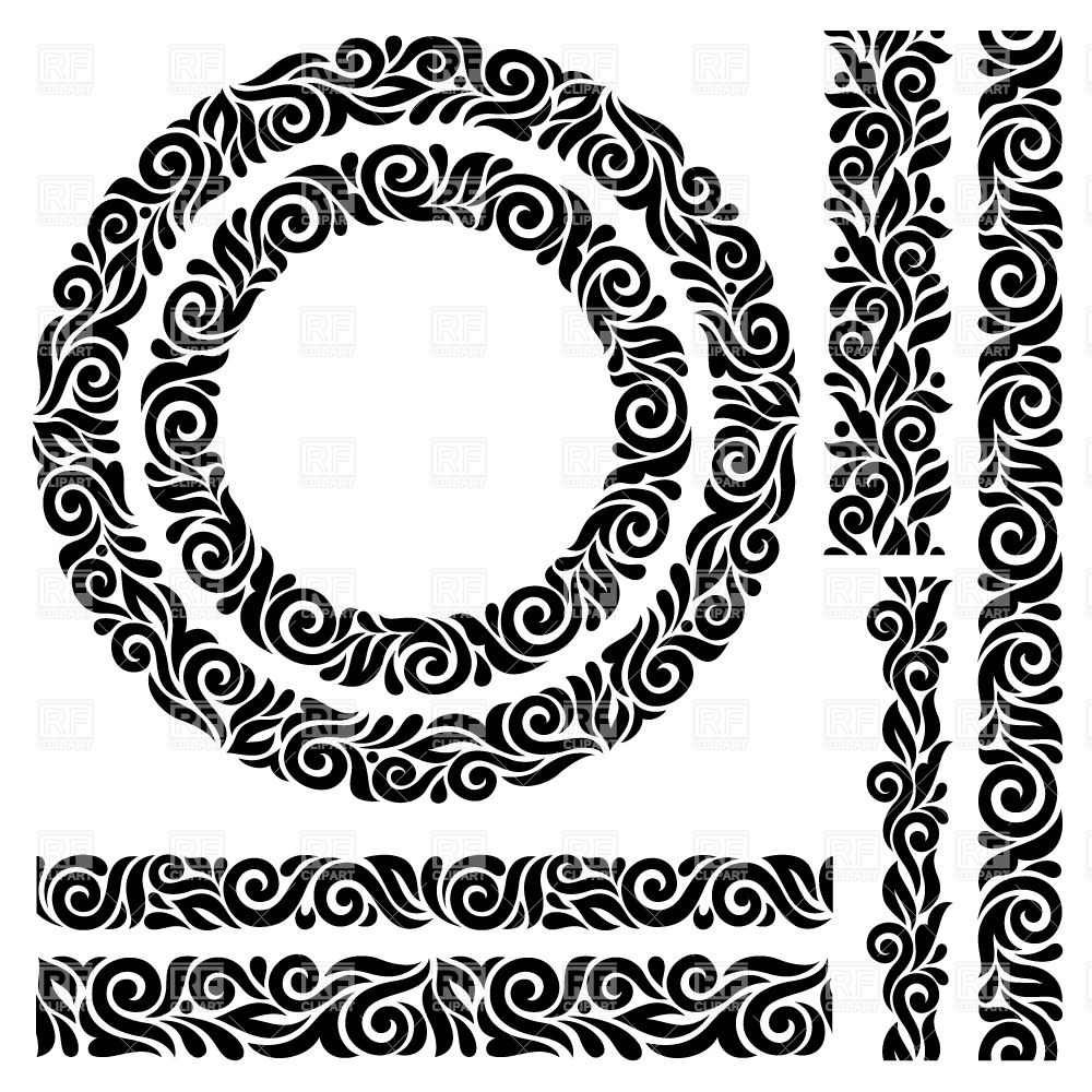 1000x1000 Ornate Border Set Vector Image Vector Artwork Of Borders And