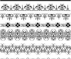 236x196 Ornate Border Vector 191492