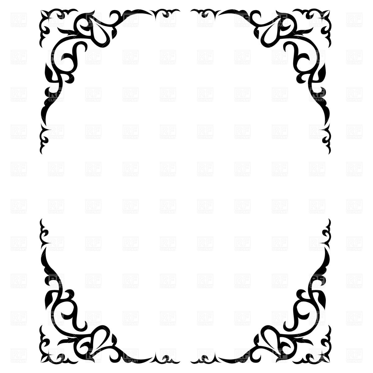 1200x1200 Ornate Floral Frame Vector Image Vector Artwork Of Borders And