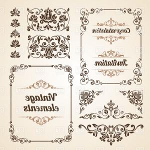 300x300 Round Vintage Frame With Ornate Border Vector Clipart Orangiausa