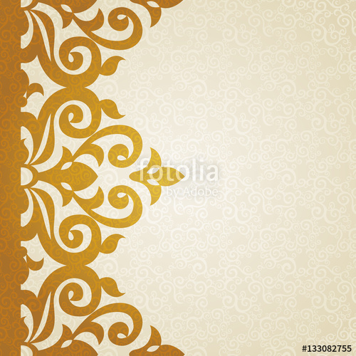 500x500 Vector Ornate Border In Victorian Style. Stock Image And Royalty