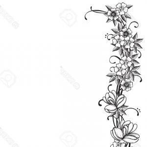 300x300 Vintage Floral Ornate Border Elements Vector Clipart Sohadacouri