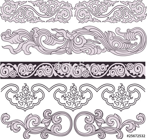 500x471 Spiral Ornate Border Element Stock Image And Royalty Free Vector