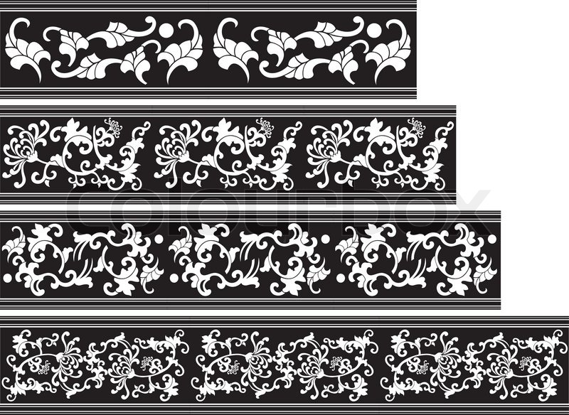 800x584 China Seamless Ornate Border Stock Vector Colourbox