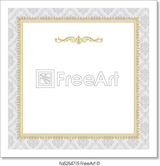 561x581 Free Art Print Of Vector Ornate Complex Gold Frame. Vector Ornate