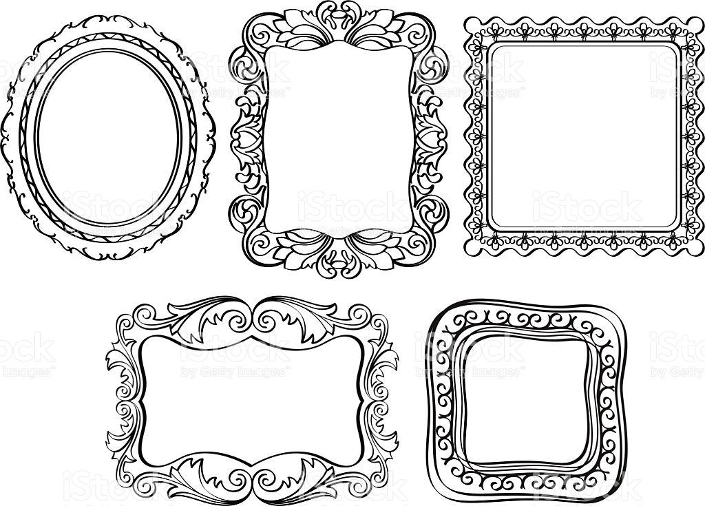 1024x735 Ornate Frame Vector Free Elegant Ornate Frames Stock Vector Art