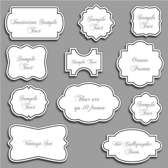 Ornate Frame Vector Free