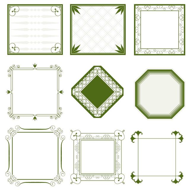640x640 Free Vectors Vintage Minimalist Ornate Frame Collection Great