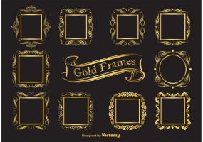 285x200 Gold Ornate Frames Vector Free Vector Graphic Art Free Download