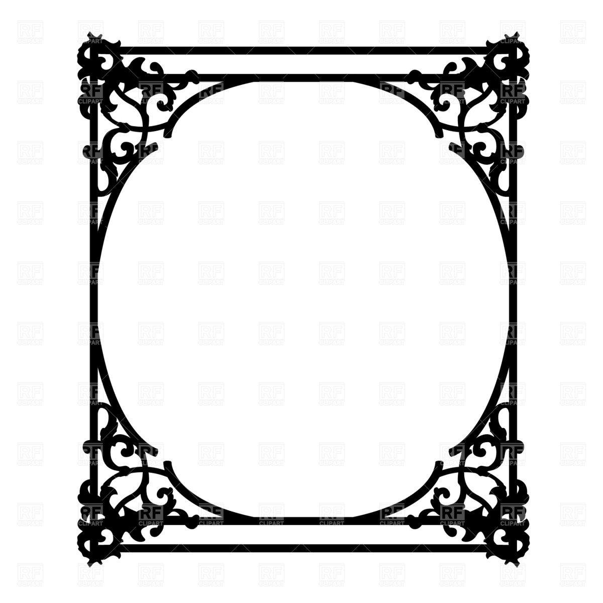 1200x1200 Old Ornate Frame Vector Image Vector Artwork Of Borders And