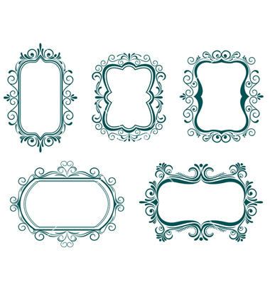 380x400 Ornate Frame Vector Free 350 Free Fabulous Labels Borders And