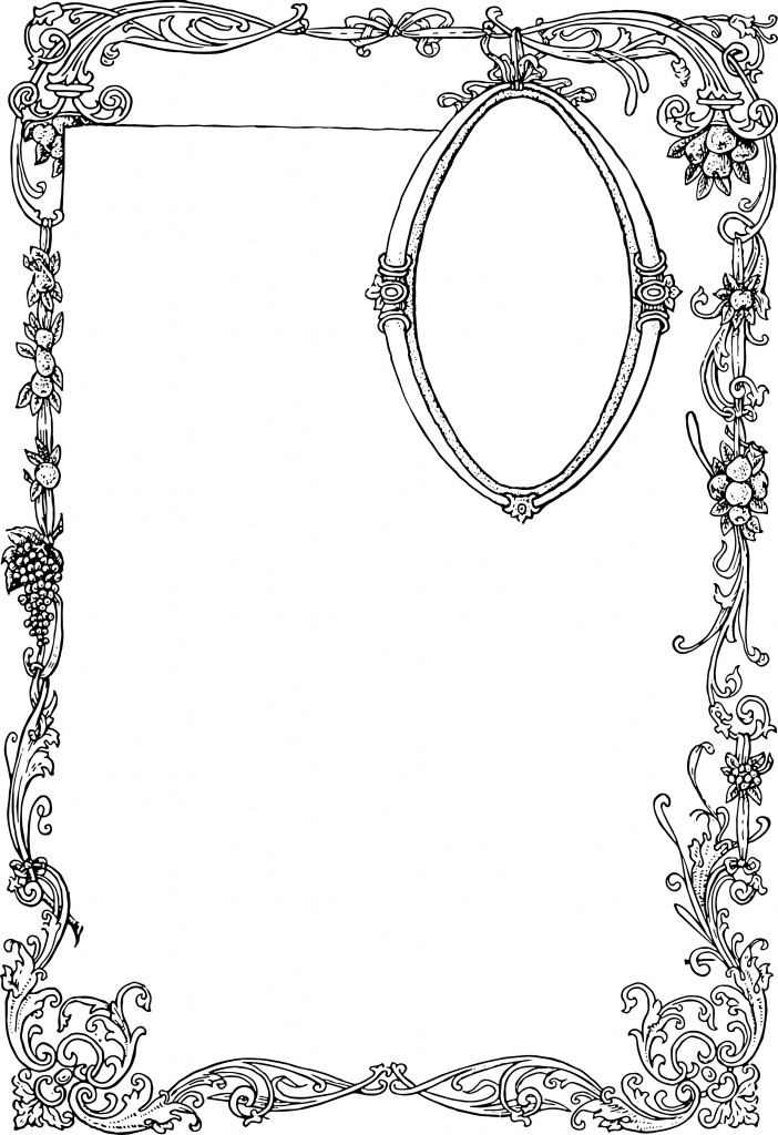 702x1024 Ornate Frame Vector Free Victorian Free Vector Art Free Downloads