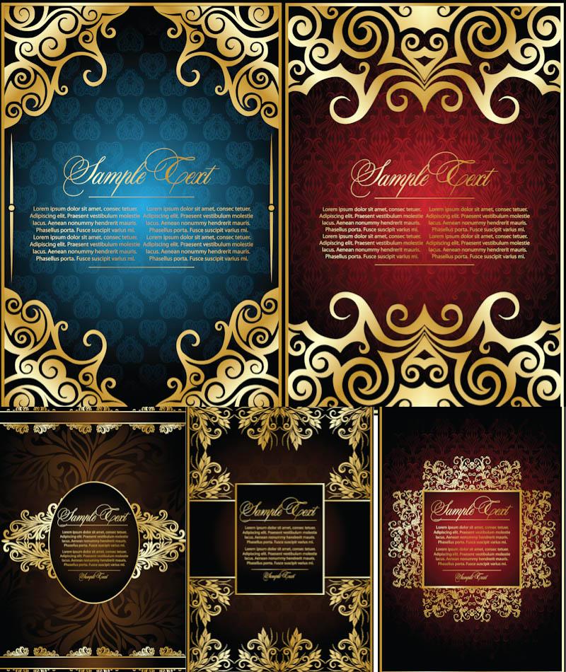 800x950 Ornate Gold Frames Vector Vector Graphics Blog