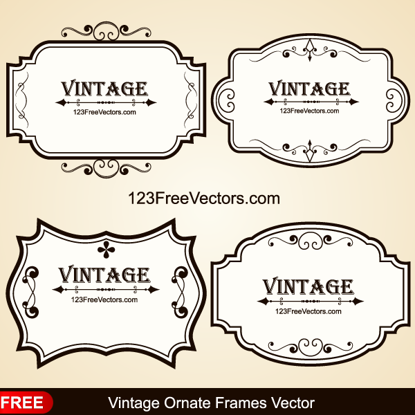 600x600 Vintage Ornate Frames Vector By 123freevectors