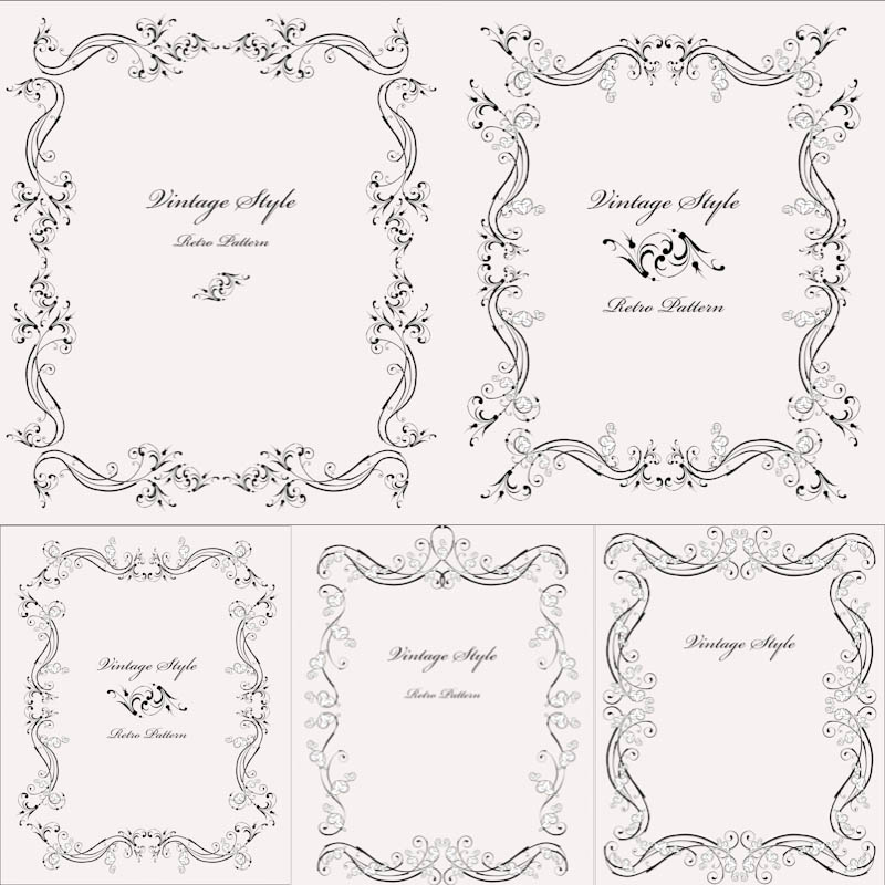 800x800 Vintage Style Frames Vector Vector Graphics Blog