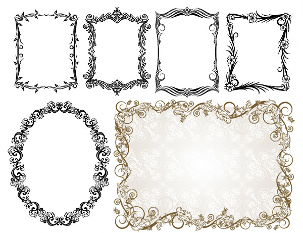 600x461 Commonly Used Ornate Border Vector Free Download