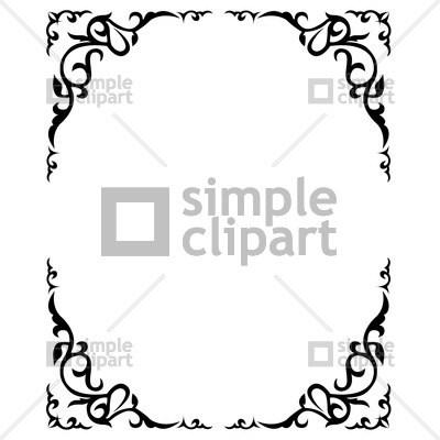 400x400 Simple Ornate Frame Vector Framesite.co