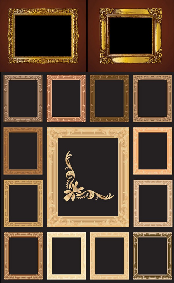 600x977 Continental Ornate Frame Vector Material My Free Photoshop World