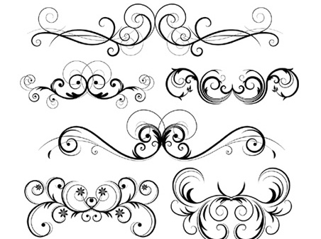 452x336 Free Download Of Free Ornate Vector Swirls Vector Graphic