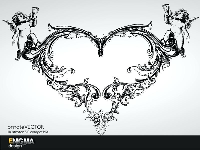 800x600 Ornate Design Flower Ornate Frame Design Vector Ornate Design