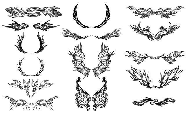 645x395 Ornate Ornaments Vector Pack For Adobe Illustrator