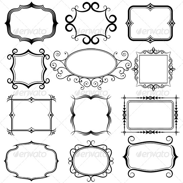 590x590 Ornate Vector Frames By Alisher9 Graphicriver
