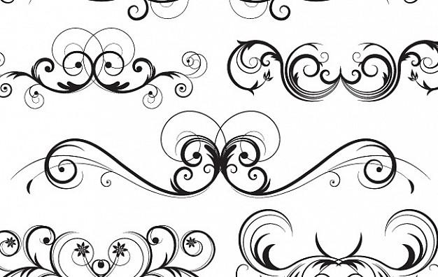 626x396 Ornate Vector Swirls Vector Free Download