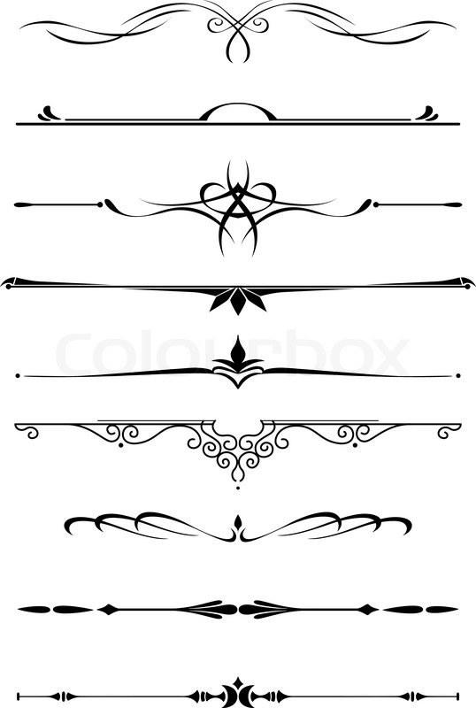 538x800 Vintage Dividers And Borders Set In Medieval Style For Embellish